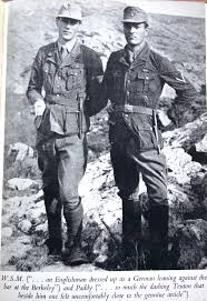 Billy Moss & Patrick Leigh Fermor in German uniforms for the abduction.