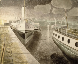 Paddle-Steamers-by-Night-Eric Ravilious